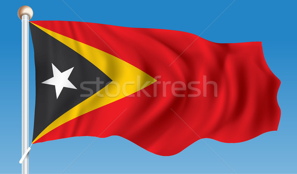 Flag of Timor-Leste Stock photo © ojal