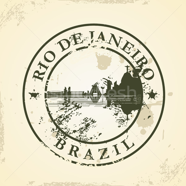 Grunge rubber stamp with Rio de Janeiro, Brazil Stock photo © ojal