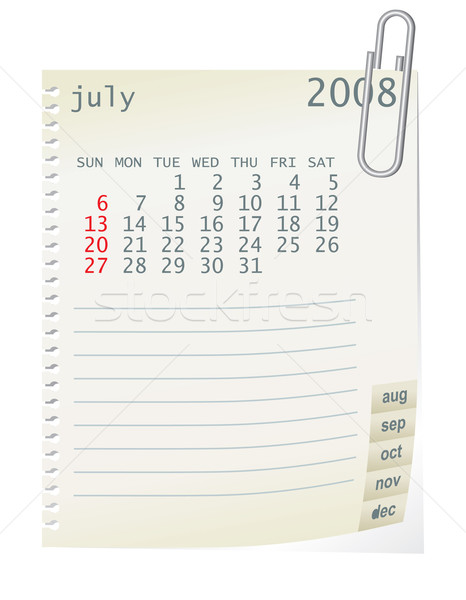 july 2008 Stock photo © ojal
