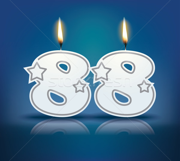 Birthday candle number 88 Stock photo © ojal
