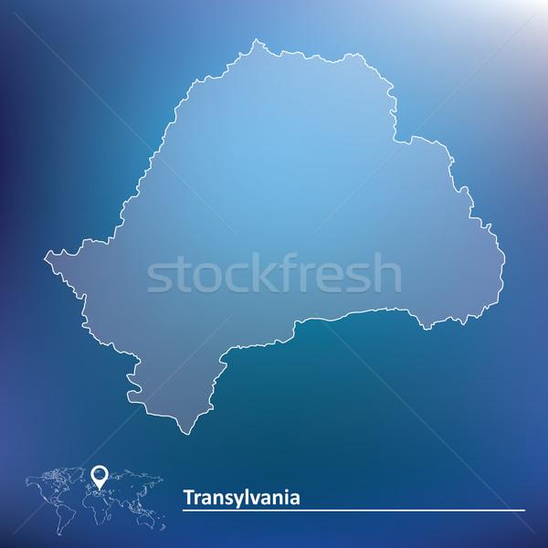 Mapa resumen país moderna estilo creativa Foto stock © ojal