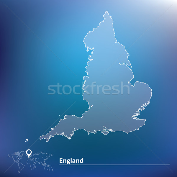 Terkep Anglia Varos Fekete Sziluett Rajz Vektorgrafika