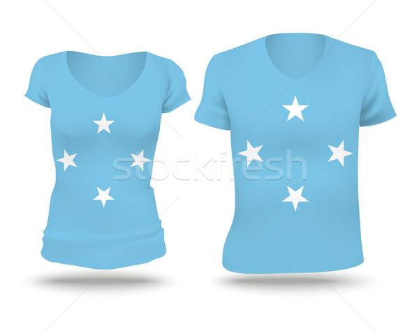 フラグ シャツ デザイン ミクロネシア 女性 男 ストックフォト © ojal