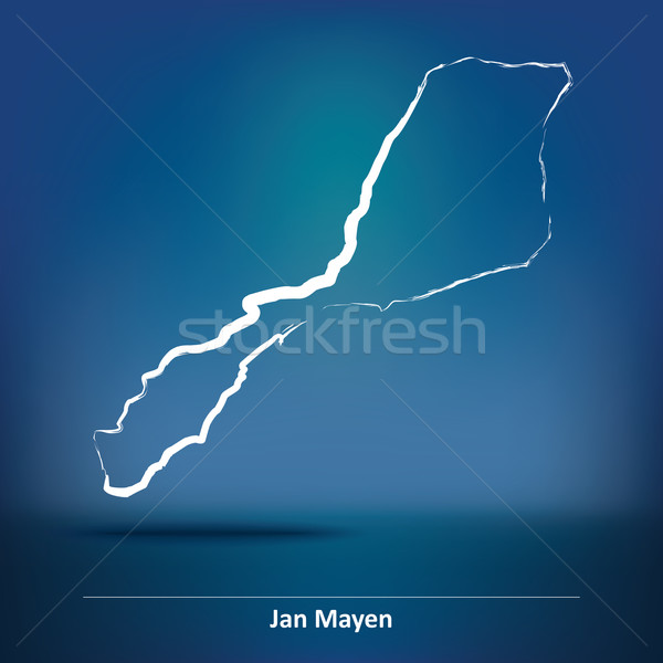 Doodle Map of Jan Mayen Stock photo © ojal