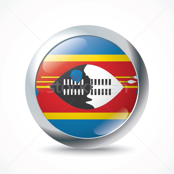 Swaziland flag button Stock photo © ojal