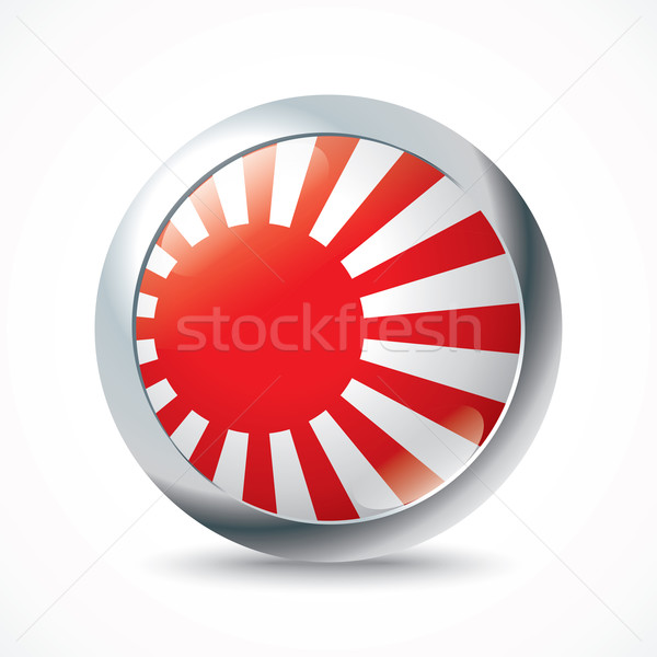Japanese Naval Ensign flag button Stock photo © ojal