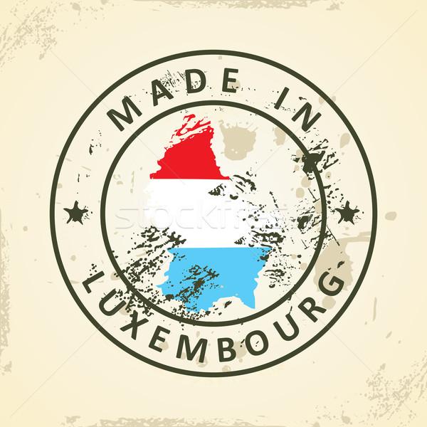 Stempel kaart vlag Luxemburg grunge abstract Stockfoto © ojal