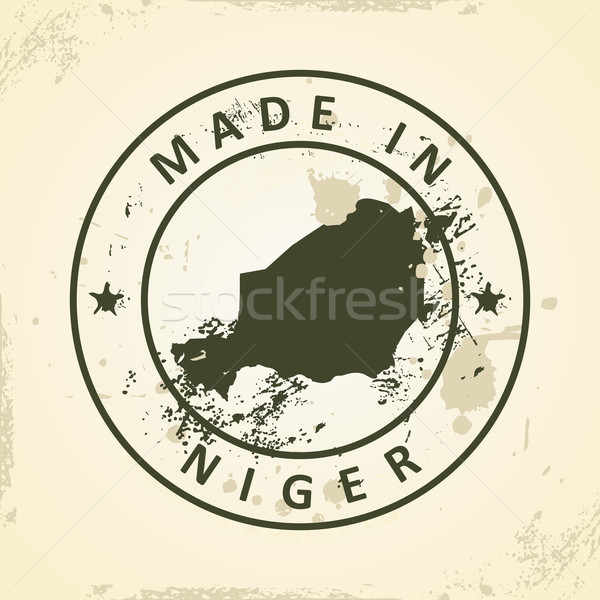 Stamp with map of Niger Stock photo © ojal