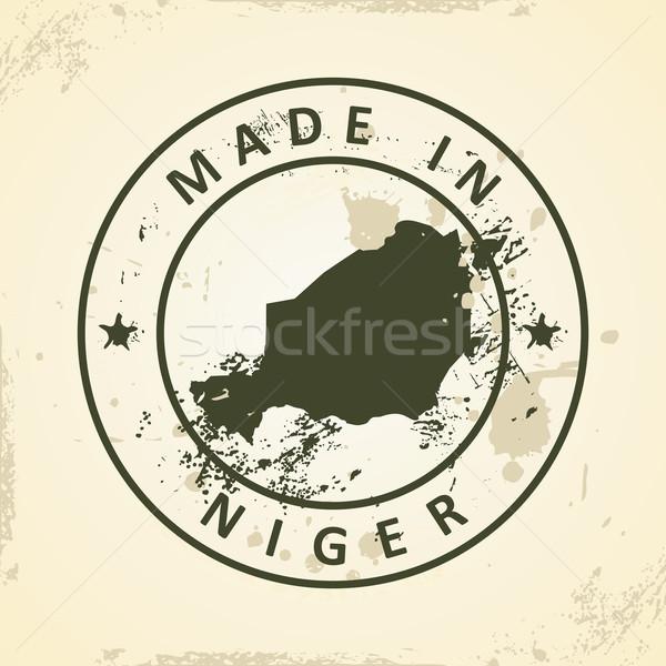 Sello mapa Níger grunge mundo verde Foto stock © ojal