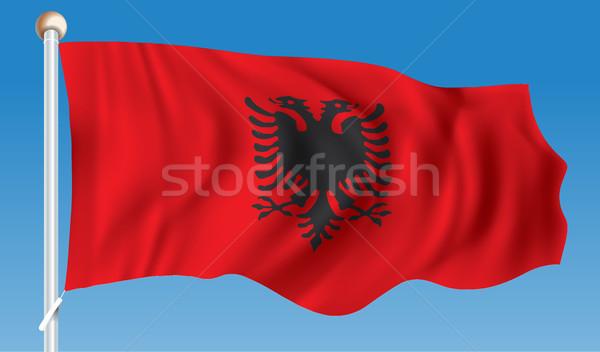Flag of Albania Stock photo © ojal