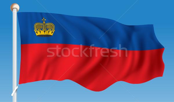 Flag of Liechtenstein Stock photo © ojal