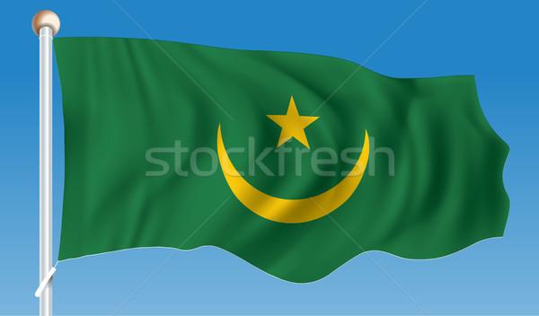 флаг Мавритания дизайна знак зеленый путешествия Сток-фото © ojal