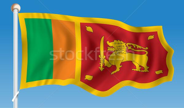 Zászló Sri Lanka háttér felirat utazás diagram Stock fotó © ojal