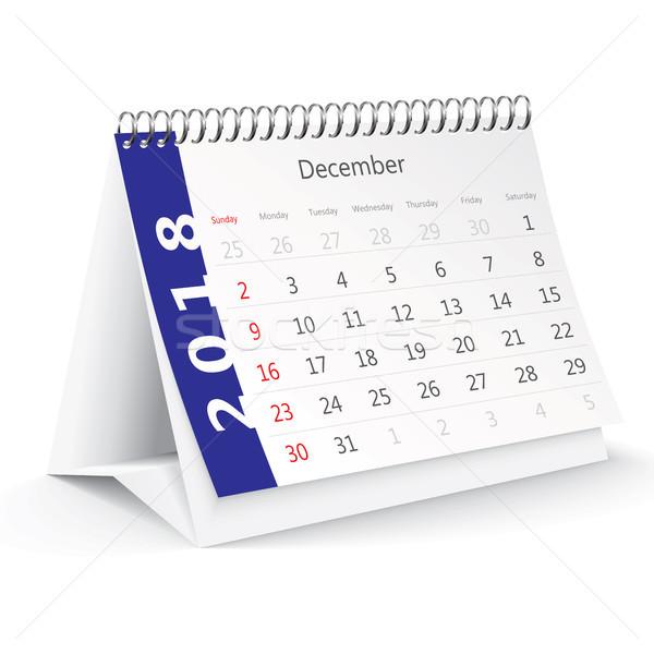 Décembre bureau calendrier bureau printemps hiver Photo stock © ojal