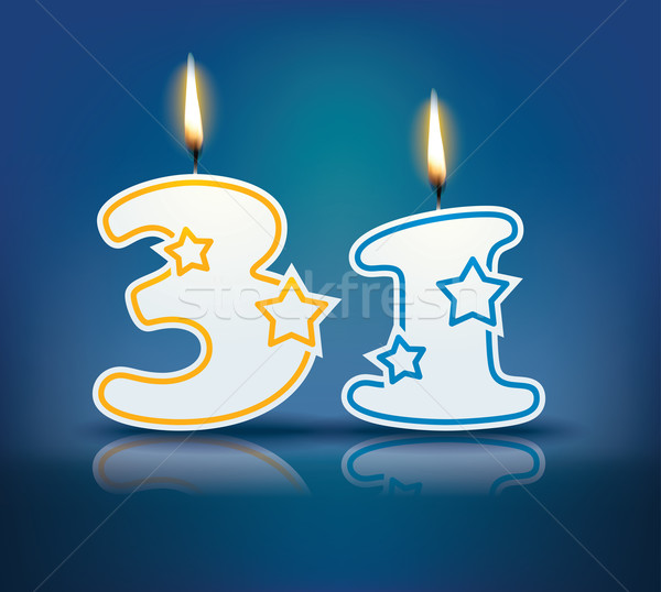 Birthday candle number 31 Stock photo © ojal