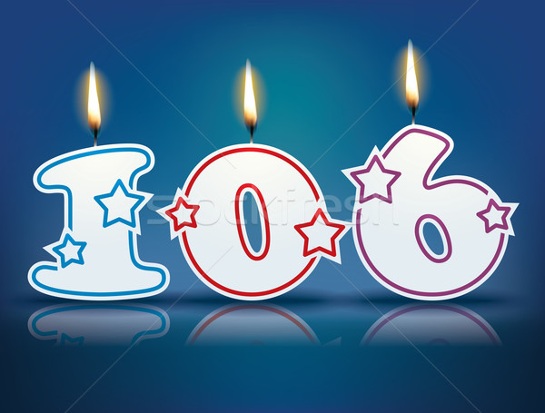 Birthday candle number 106 Stock photo © ojal