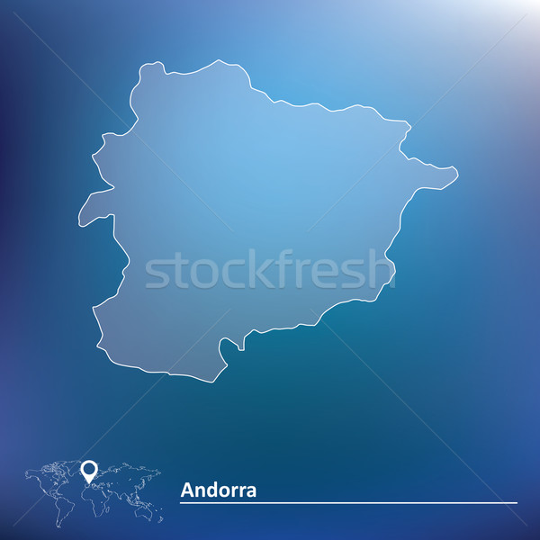 Kaart Andorra stad abstract ontwerp silhouet Stockfoto © ojal