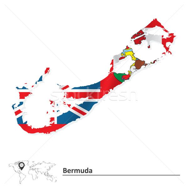 Mappa bandiera città mondo istruzione viaggio Foto d'archivio © ojal