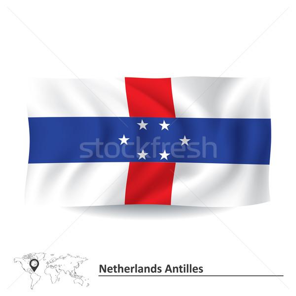 флаг Нидерланды карта путешествия силуэта ветер Сток-фото © ojal