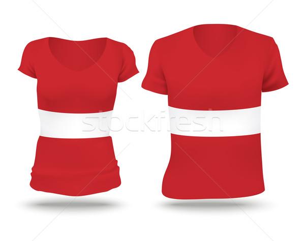 Bandeira camisas projeto Látvia mulher homem Foto stock © ojal