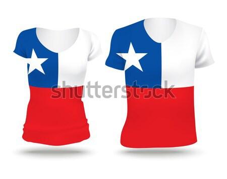 Zászló póló terv Panama nő férfi Stock fotó © ojal