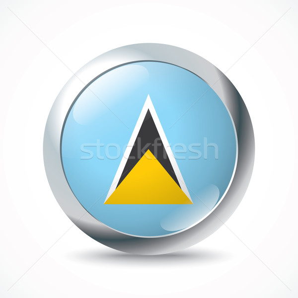 Saint Lucia flag button Stock photo © ojal