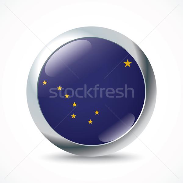 Аляска флаг кнопки стены аннотация синий Сток-фото © ojal