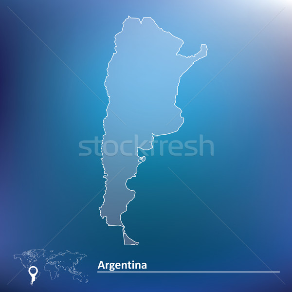 Map of Argentina Stock photo © ojal