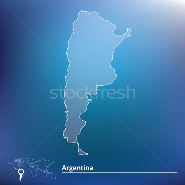 Térkép Argentína textúra absztrakt fény világ Stock fotó © ojal