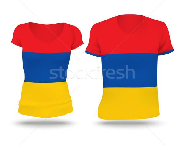 フラグ シャツ デザイン アルメニア 女性 男 ストックフォト © ojal