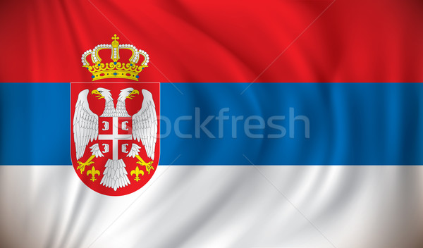 Bayrak Sırbistan doku dizayn arka plan sanat Stok fotoğraf © ojal