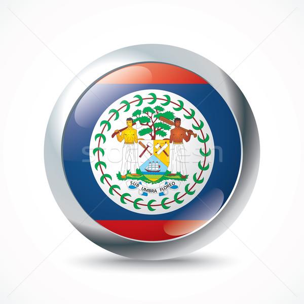 Belize zászló gomb világ Föld utazás Stock fotó © ojal