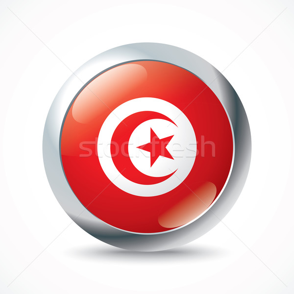 Tunisia flag button Stock photo © ojal
