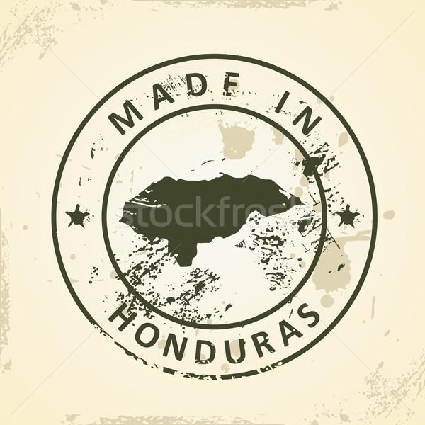 Carimbo mapa Honduras grunge assinar silhueta Foto stock © ojal