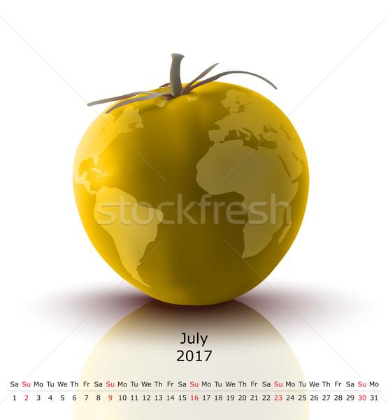 July 2017 tomato calendar Stock photo © ojal
