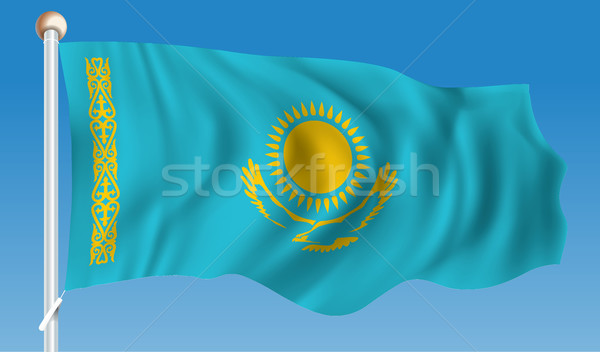флаг Казахстан текстуры фон знак путешествия Сток-фото © ojal