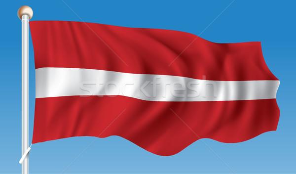 Vlag Letland ontwerp achtergrond reizen silhouet Stockfoto © ojal