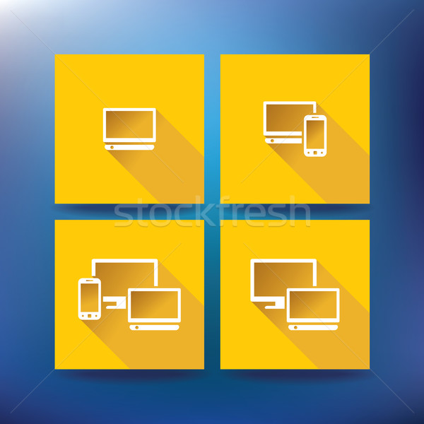 Internet service provider icons, eps 10 Stock photo © ojal