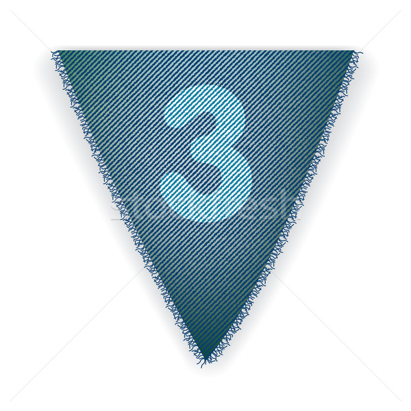 Bunting flag number 3 Stock photo © ojal