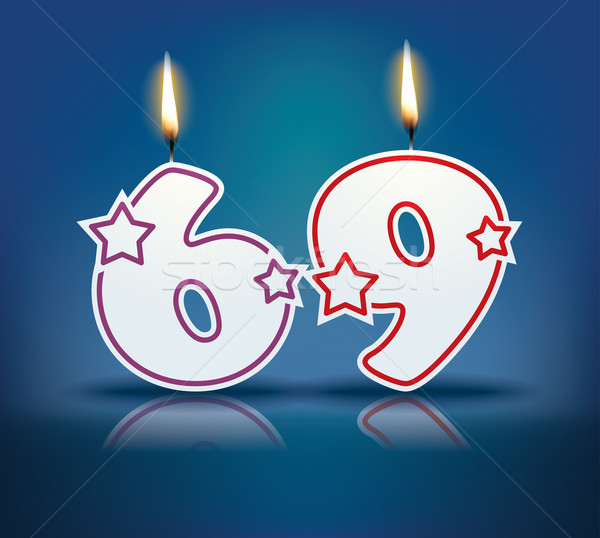 Birthday candle number 69 Stock photo © ojal