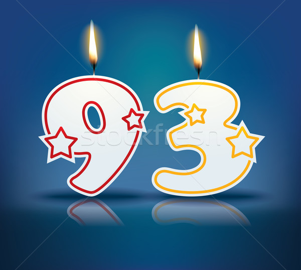 Birthday candle number 93 Stock photo © ojal