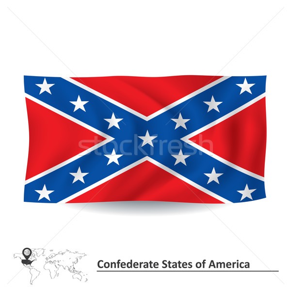 Flag of Confederate states of America Stock photo © ojal