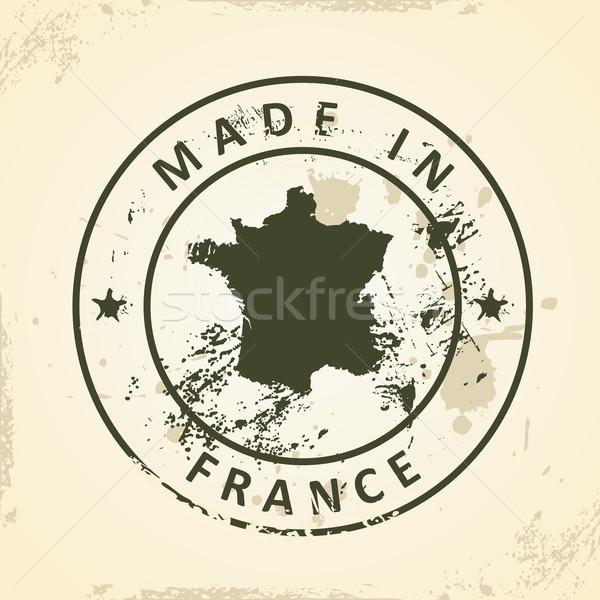 Pieczęć Pokaż Francja grunge tle cyfrowe Zdjęcia stock © ojal