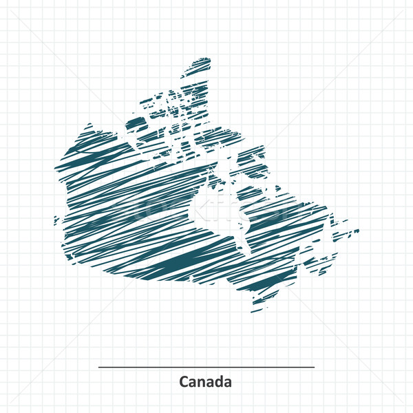 Doodle sketch of Canada map Stock photo © ojal