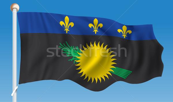 Vlag ontwerp reizen silhouet land grafische Stockfoto © ojal
