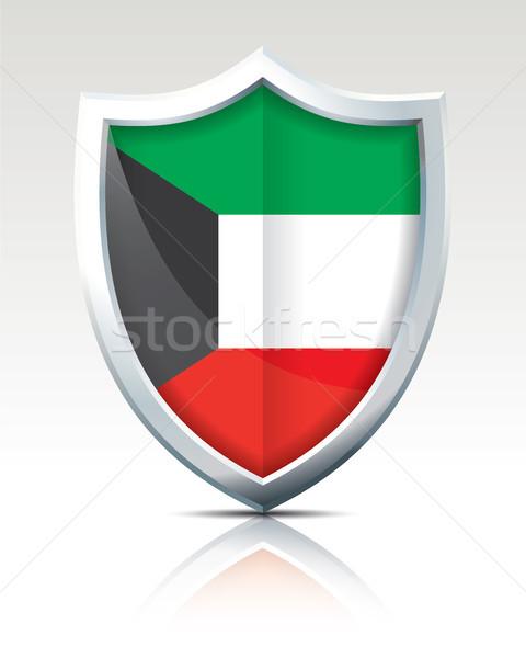 щит флаг Кувейт текстуры искусства знак Сток-фото © ojal