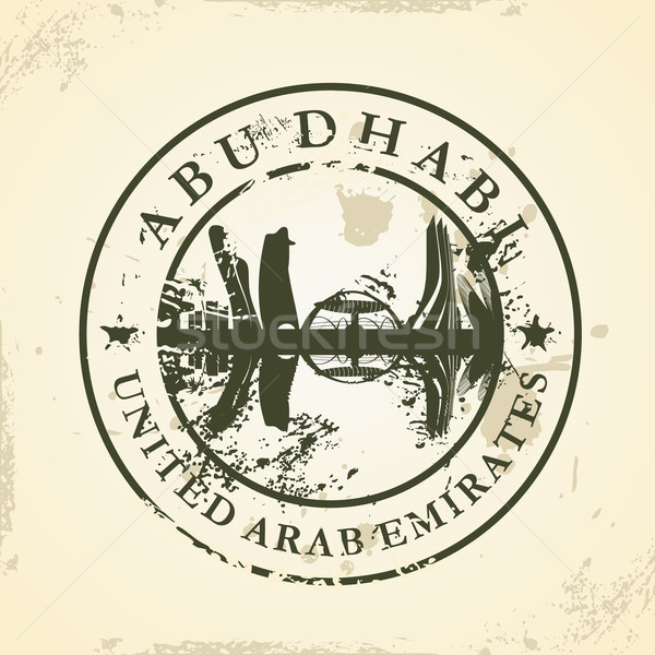 Grunge rubber stamp with Abu Dhabi, UAE Stock photo © ojal