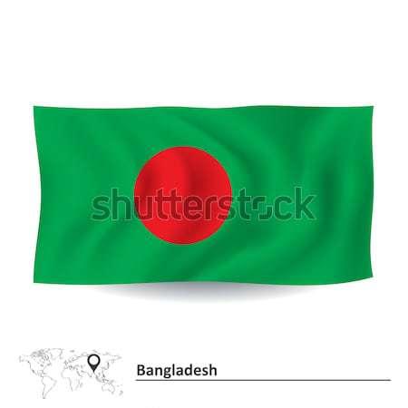 Zászló Banglades üzlet térkép absztrakt világ Stock fotó © ojal