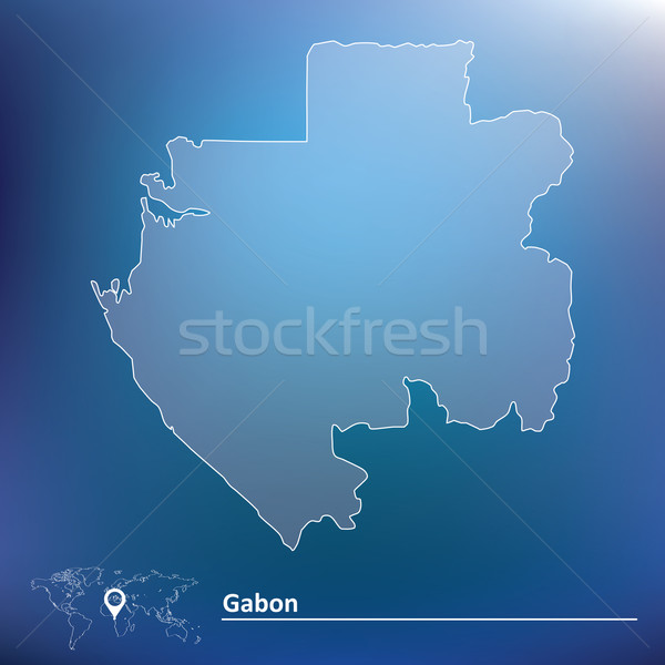 Map of Gabon Stock photo © ojal