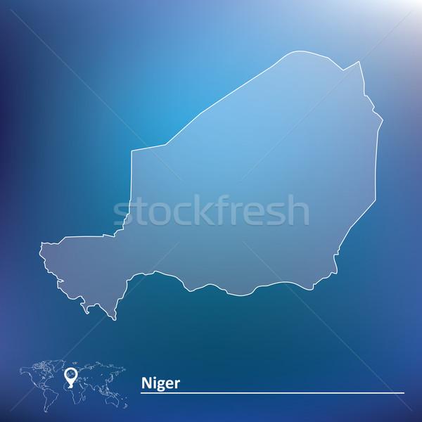 Mappa Niger texture design verde viaggio Foto d'archivio © ojal